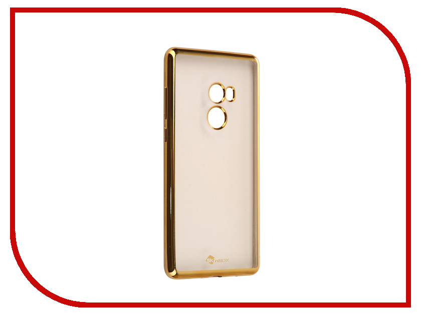 Аксессуар Чехол Xiaomi Mi Mix 2 SkinBox Silicone Chrome Border 4People Gold T-S-XMM2-008 аксессуар чехол накладка для meizu m5 skinbox silicone chrome border 4people gold t s mm5 008