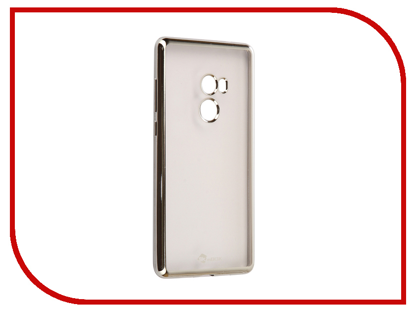Аксессуар Чехол Xiaomi Mi Mix 2 SkinBox Silicone Chrome Border 4People Silver T-S-XMM2-008 аксессуар чехол накладка samsung galaxy j3 2017 skinbox silicone chrome border 4people gold t s sgj32017 008
