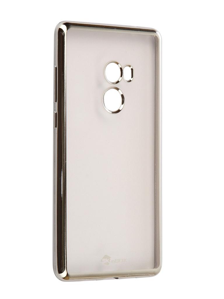 Аксессуар Чехол SkinBox для Xiaomi Mi Mix 2 Silicone Chrome Border 4People Silver T-S-XMM2-008 аксессуар чехол xiaomi mi5 skinbox shield case 4people black t s xm5 002
