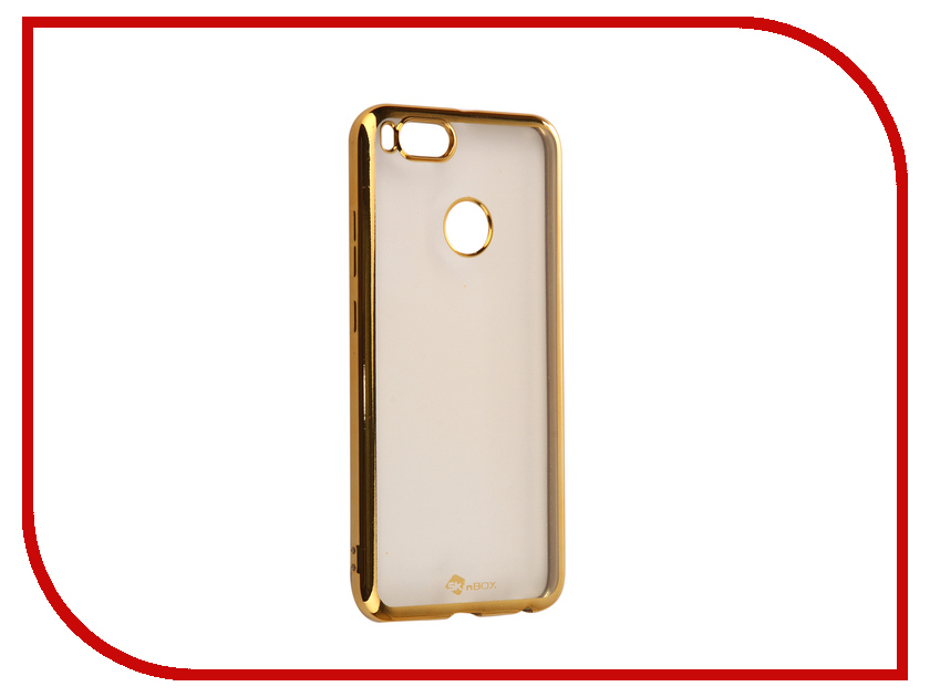 Аксессуар Чехол Xiaomi Mi 5X/A1 SkinBox Silicone Chrome Border 4People Gold T-S-XM5X-008 аксессуар чехол накладка для meizu m5 skinbox silicone chrome border 4people gold t s mm5 008