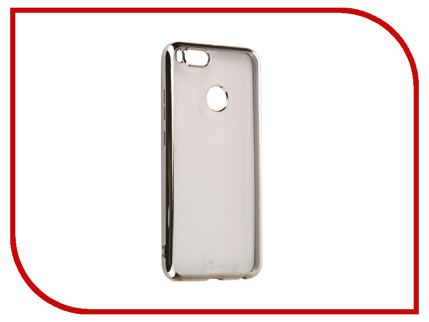 Аксессуар Чехол Xiaomi Mi 5X/A1 SkinBox Silicone Chrome Border 4People Silver T-S-XM5X-008 аксессуар чехол накладка для meizu m5 skinbox silicone chrome border 4people gold t s mm5 008