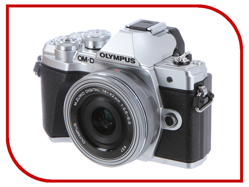 Фотоаппарат Olympus OM-D E-M10 Mark III Kit 14-42 mm EZ Silver цифровой фотоаппарат со сменной оптикой olympus om d e m10 mark ii kit double zoom black