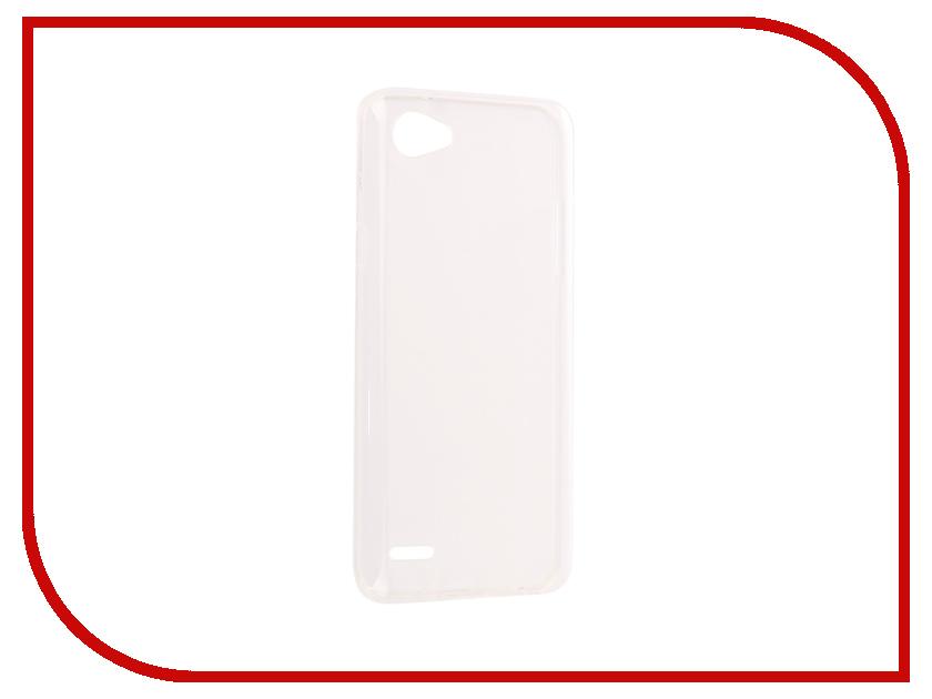 Аксессуар Чехол LG Q6/6A SkinBox Slim Silicone Transparent T-S-LQ6A-005 чехол защитный skinbox lg k5