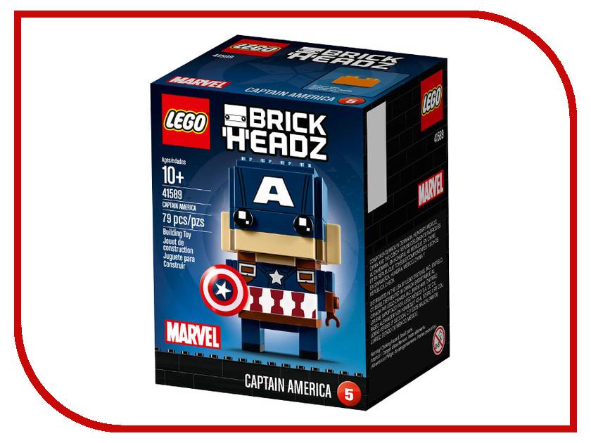 Конструктор Lego Brick Headz Капитан Америка 41589