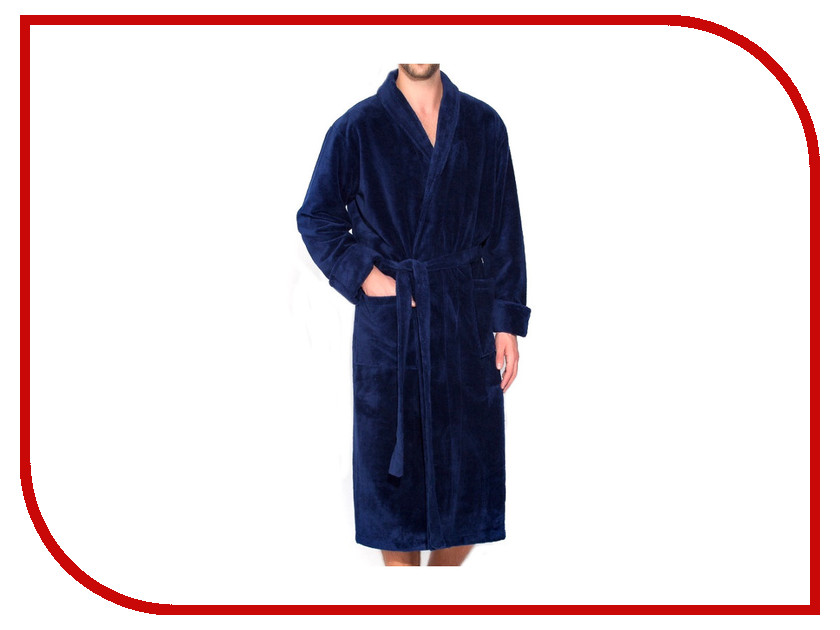 цены Халат Peche Monnaie Naturel №908 Мужской Размер XXXL Blue