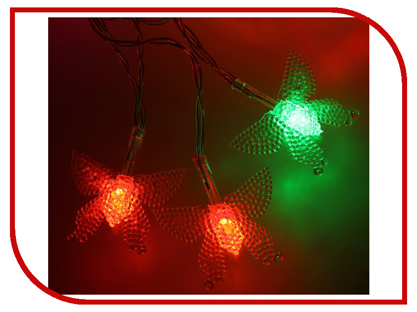 Гирлянда Luazon Метраж Бабочка в крап 3m LED-20-3.6V 1080369 гирлянда luazon метраж свечка 5m led 20 220v multicolor 2388694