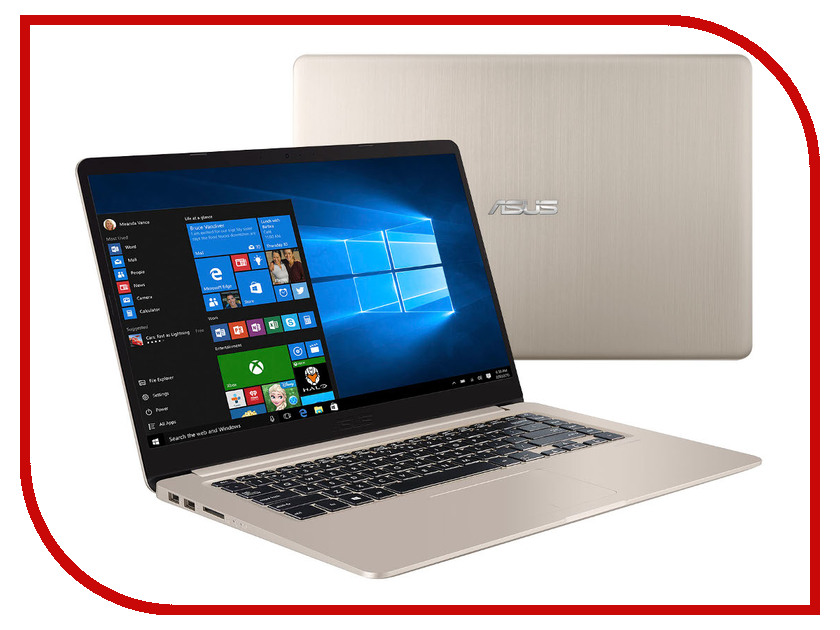 Ноутбук ASUS S510UQ-BQ436T 90NB0FM1-M06730 (Intel Core i3-7100U 2.4 GHz/6144Mb/1000Gb/nVidia GeForce 940M 2048Mb/Wi-Fi/Bluetooth/Cam/15.6/1920x1080/Windows 10 64-bit)