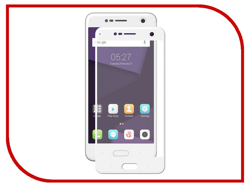 Аксессуар Защитное стекло ZTE Blade V8 Svekla Full Screen White ZS-SVZTV8-FSWH