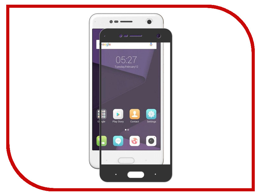 Аксессуар Защитное стекло ZTE Blade V8 Svekla Full Screen Black ZS-SVZTV8-FSBL