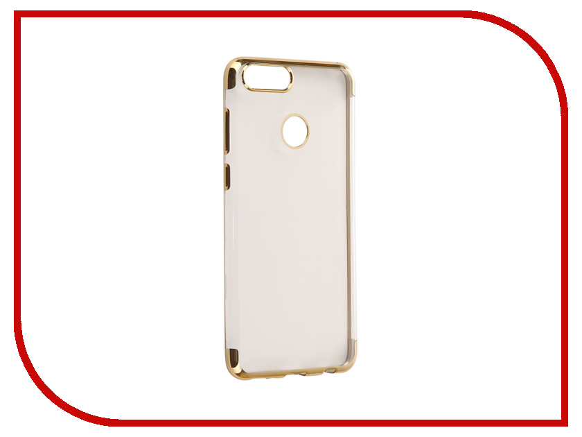 Аксессуар Чехол для Huawei Honor 7X Svekla Flash Silicone Gold Frame SVF-HWH7X-GOLD