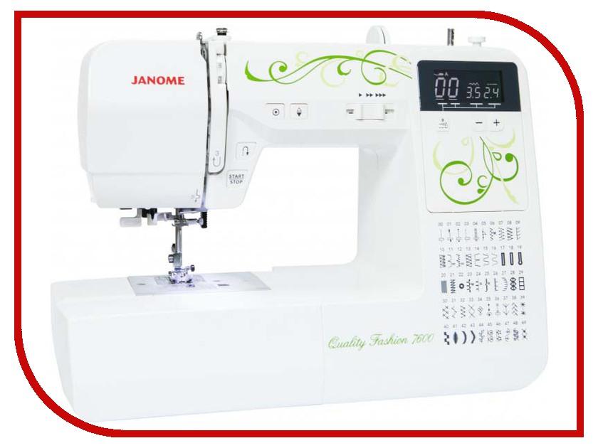 Швейная машинка Janome Quality Fashion 7600 швейная машинка janome sew line 500s