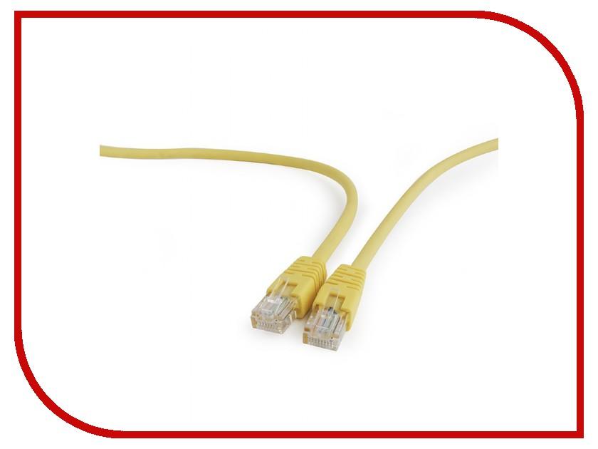 Сетевой кабель Gembird Cablexpert UTP cat.5e 0.25m Yellow PP12-0.25M/Y сетевой кабель gembird cablexpert utp cat 5e 1m grey pp12 1m