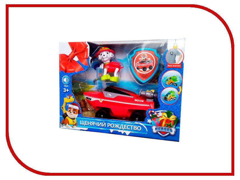 Игрушка Щенячий патруль Рождество Маршал и лодка спасателей 2080-5