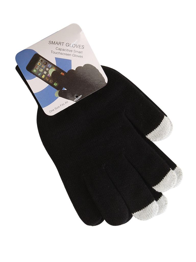 Теплые перчатки для сенсорных дисплеев Red Line р. M/L Black / White Finger УТ000014056
