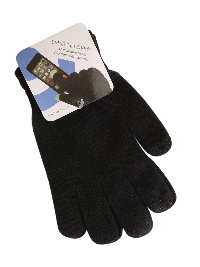 Теплые перчатки для сенсорных дисплеев Red Line р. M/L Black / Dark Blue Finger УТ000014055