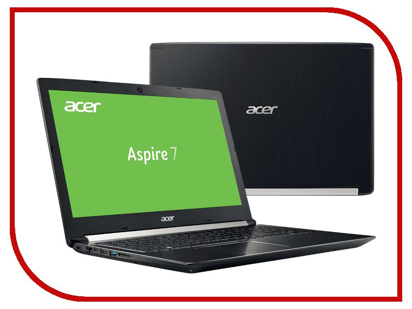 Ноутбук Acer Aspire A715-71G-51J1 NX.GP8ER.008 (Intel Core i5-7300HQ 2.5 GHz/8192Mb/500Gb/nVidia GeForce GTX 1050 2048Mb/Wi-Fi/Bluetooth/Cam/15.6/1920x1080/Windows 10 64-bit)