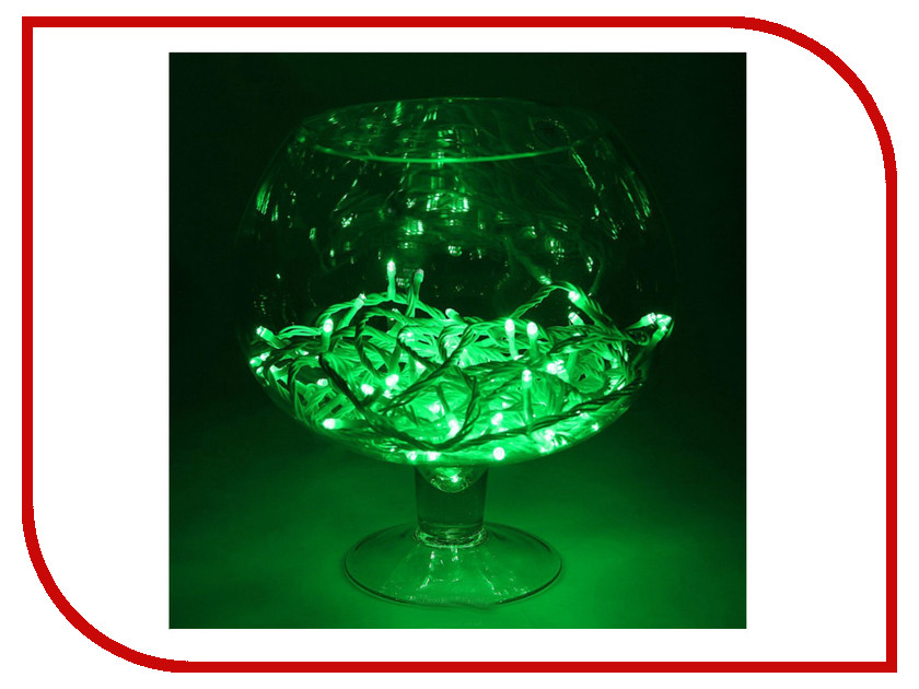 Гирлянда Luazon Метраж 10m LED-100-24В Green 1672041 гирлянда luazon спайдер led 600 24в 20m multicolor 1586037