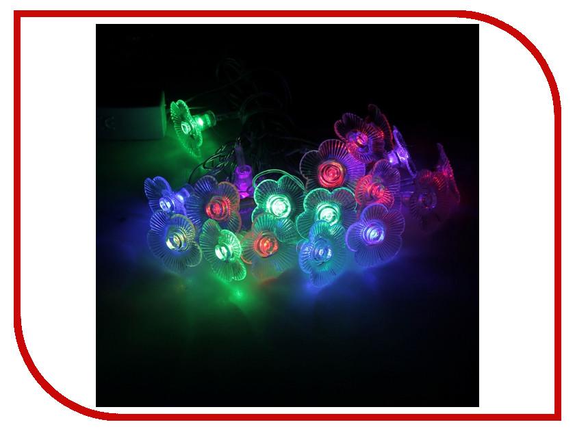 Гирлянда Luazon Метраж Цветы 5m LED-20-220V 185506 гирлянда luazon конский хвост капля росы 2 5m led 750 12v multicolor 1080622