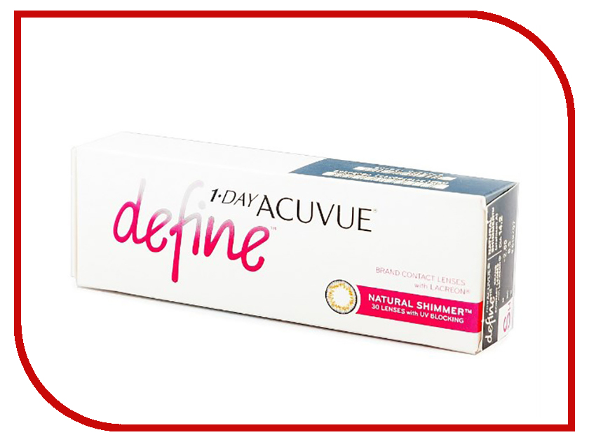 Контактные линзы Johnson & Johnson 1-Day Acuvue Define (30 линз / 8.5 / -3.5) Natural Shimmer контактные линзы johnson