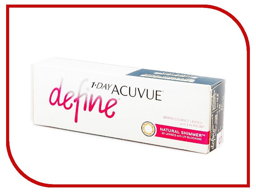 Контактные линзы Johnson & Johnson 1-Day Acuvue Define (30 линз / 8.5 / -4) Natural Shimmer контактные линзы johnson