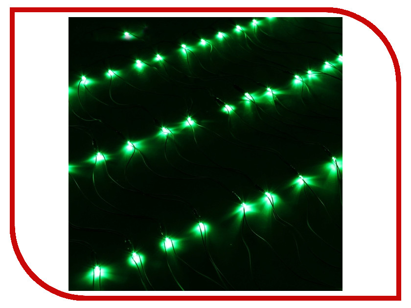 Гирлянда Luazon Сетка 1x0.7m LED-96-220V Green 187200 гирлянда luazon метраж фонарик сетка 5m led 20 220v multicolor 2388682