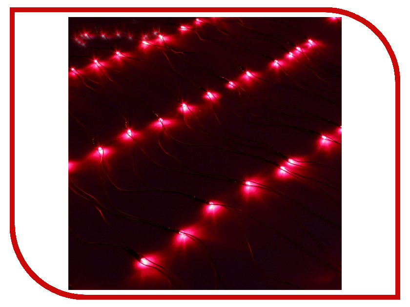 Гирлянда Luazon Сетка 1x0.7m LED-96-220V Red 187202 гирлянда luazon метраж фонарик сетка 5m led 20 220v multicolor 2388682