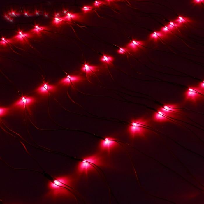 Гирлянда Luazon Сетка 1x0.7m LED-96-220V Red 187202 гирлянда luazon метраж футбольный мяч 5m ed 20 220v white 2433914
