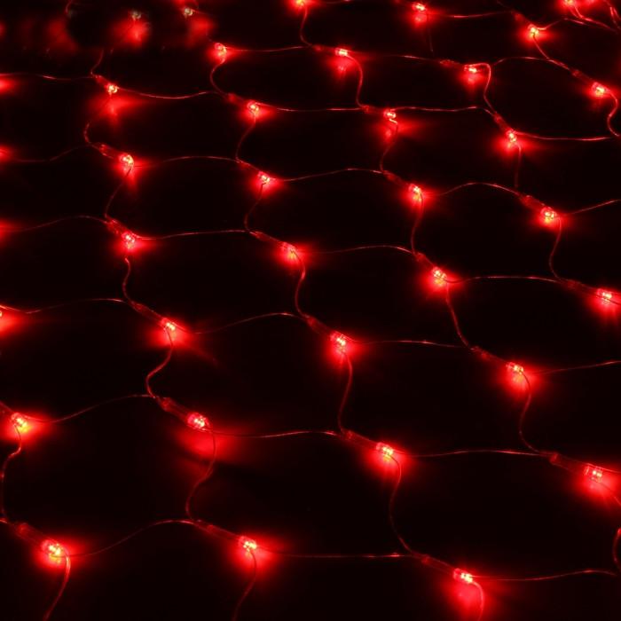 Гирлянда Luazon Сетка 1x0.9m LED-120-220V Red 187208