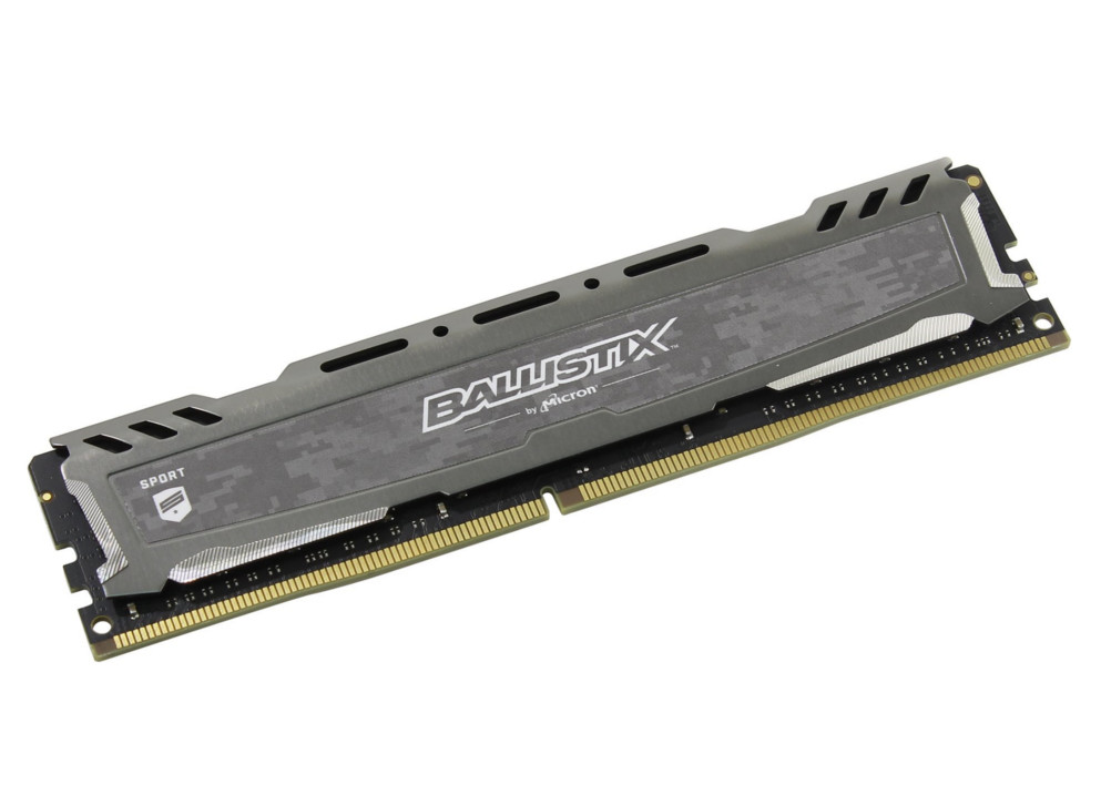 Модуль памяти Crucial Ballistix Sport LT Gray DDR4 UDIMM 2666MHz PC4-21300 - 16Gb BLS16G4D26BFSB цена