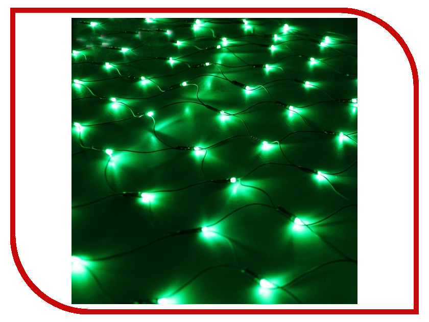 Гирлянда Luazon Сетка 1.2x1.1m LED-144-220V Green 187224 гирлянда luazon метраж фонарик сетка 5m led 20 220v multicolor 2388682