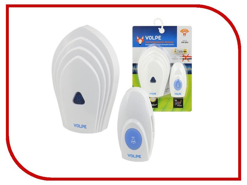 Звонок дверной Volpe UDB-Q029 W-R1T1-16S-80M-WH White