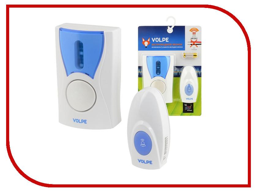 все цены на Звонок дверной Volpe UDB-Q027 W-R1T1-16S-80M-WH White онлайн