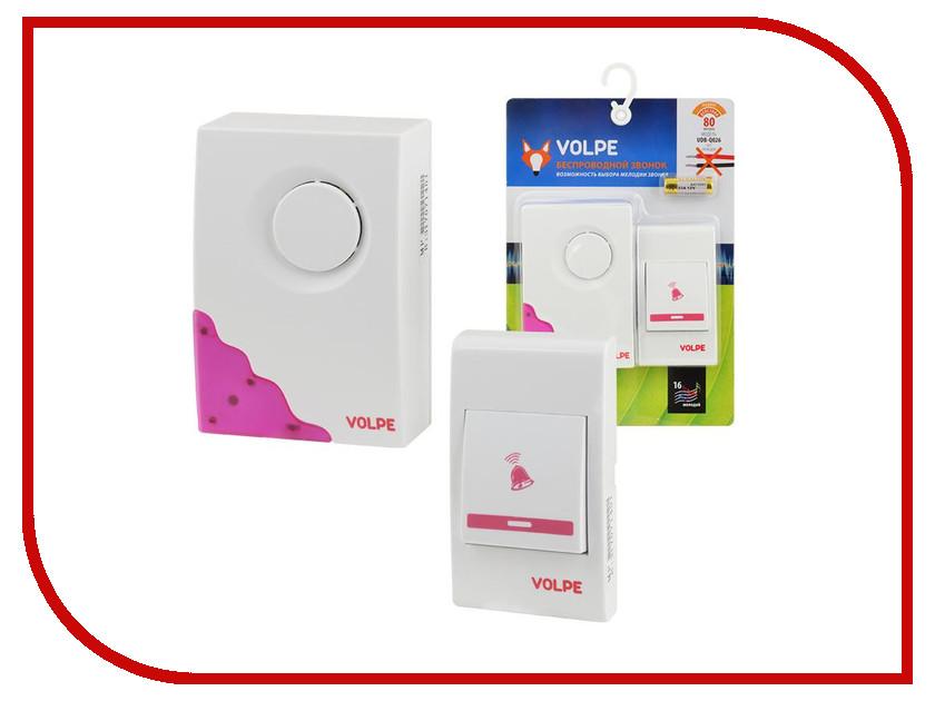 Звонок дверной Volpe UDB-Q026 W-R1T1-16S-80M-WH White звонок дверной navigator 61 276 ndb d dc05 1v2 wh