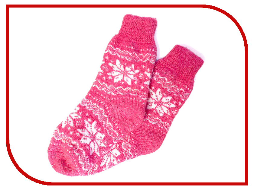 Носки Эврика Шерстяные со снежинками Pink 98798 inov 8 носки all terrain sock mid l teal pink