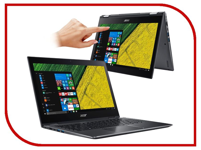 Ноутбук Acer Spin 5 SP513-52N-85DP NX.GR7ER.002 (Intel Core i7-8550U 1.8 GHz/8192Mb/256Gb SSD/No ODD/Intel HD Graphics/Wi-Fi/Bluetooth/Cam/13.3/1920x1080/Touchscreen/Windows 10 64-bit) ноутбук msi gp72 7rdx 484ru 9s7 1799b3 484 intel core i7 7700hq 2 8 ghz 8192mb 1000gb dvd rw nvidia geforce gtx 1050 2048mb wi fi bluetooth cam 17 3 1920x1080 windows 10 64 bit