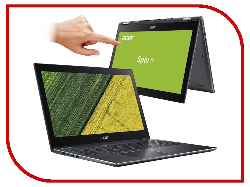 Ноутбук Acer Spin 5 SP515-51GN-581E NX.GTQER.001 (Intel Core i5-8250U 1.6 GHz/8192Mb/1000Gb/nVidia GeForce GTX 1050 4096Mb/Wi-Fi/Bluetooth/Cam/15.6/1920x1080/Touchscreen/Windows 10 64-bit) acer spin 5