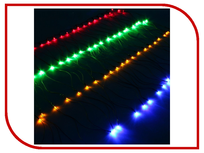 Гирлянда Luazon Сетка 1x0.7m LED-96-220V Multi 671621 гирлянда luazon метраж фонарик сетка 5m led 20 220v multicolor 2388682