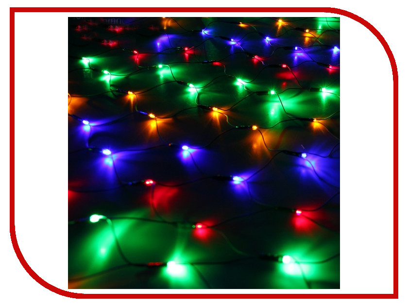 Гирлянда Luazon Сетка 1.2x1.1m LED-144-220V Multi 671623 гирлянда luazon метраж фонарик сетка 5m led 20 220v multicolor 2388682