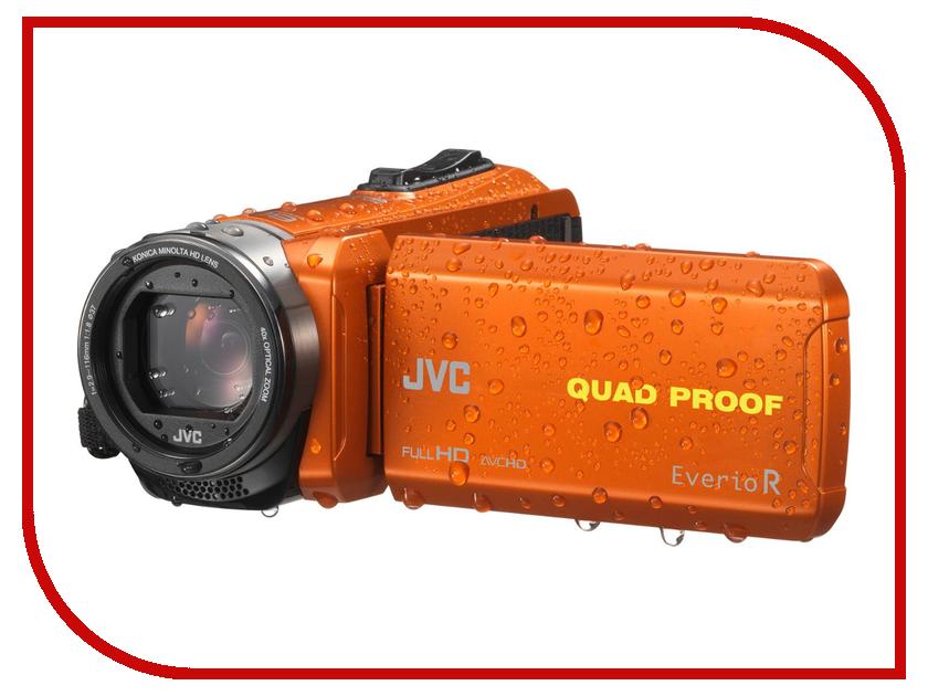 Видеокамера JVC Everio GZ-R435 Orange jvc gz r430beu black цифровая видеокамера