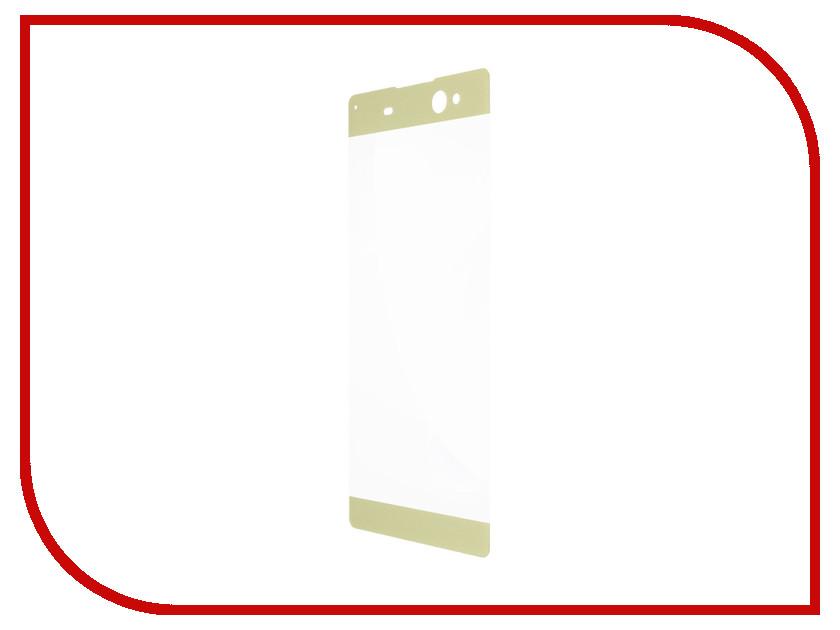 Аксессуар Защитное стекло Sony Xperia XA1 Plus BROSCO 0.3mm Gold XA1P-3D-GLASS-GOLD аксессуар чехол sony xperia xa1 plus brosco silicone black xa1p tpu black