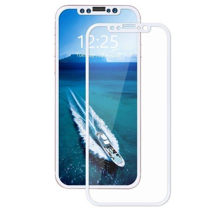 Аксессуар Защитное стекло Brosco для APPLE iPhone X 3D 0.3mm White IPX-3D-GLASS-WHITE