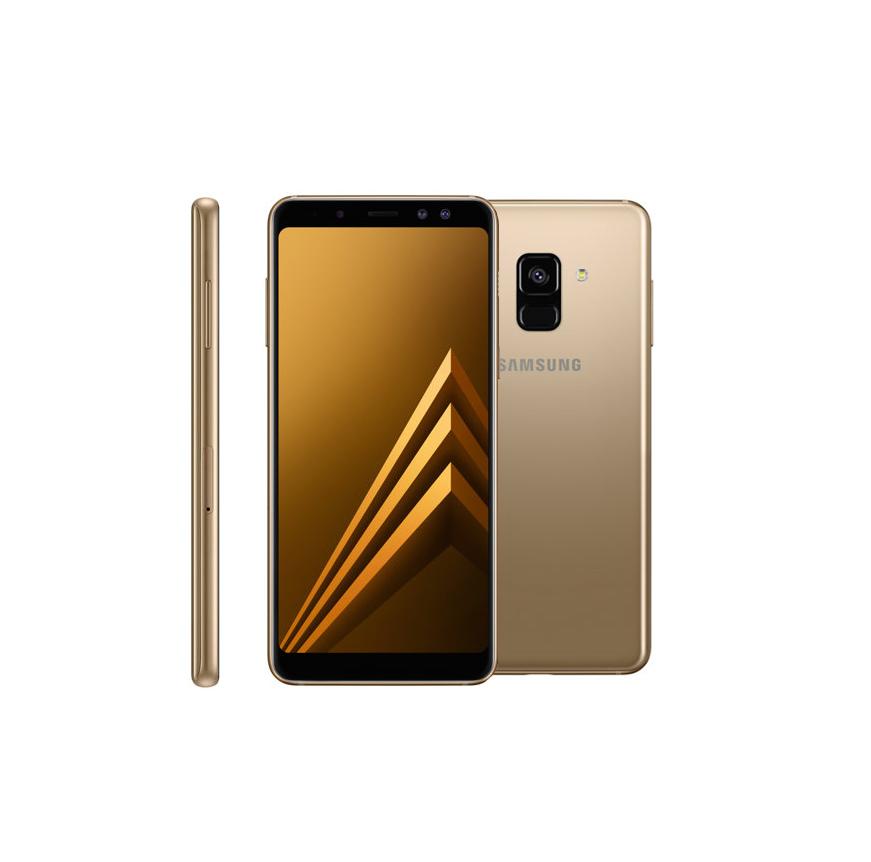 Сотовый телефон Samsung SM-A530F Galaxy A8 2018 Gold сахарница loraine собачки цвет белый красный зеленый 400 мл 71917