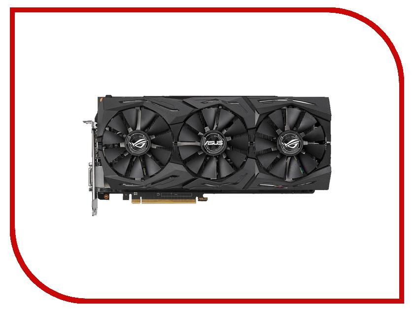 Видеокарта ASUS AMD Radeon RX VEGA 64 1590Mhz PCI-E 3.0 8192Mb 945Mhz 2048 bit 2xDP DVI 2xHDMI HDCP ROG-STRIX-RXVEGA64-O8G-GAMING видеокарта 8192mb asus rx vega 56 pci e dvi dp rog strix rxvega56 o8g gaming retail