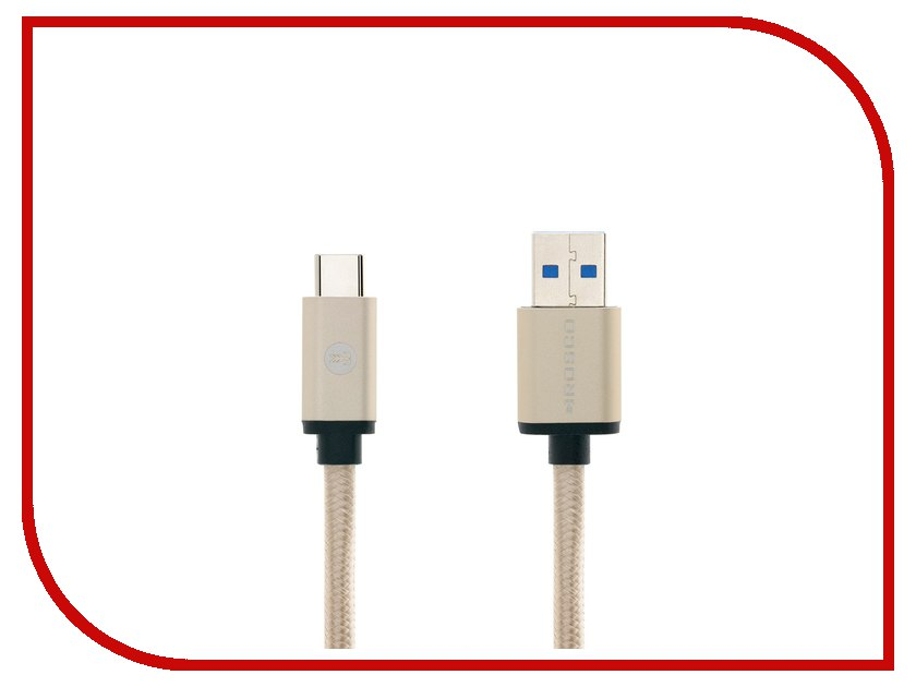 Аксессуар BROSCO USB - Type-C Gold CABLE-TYPE-C-3.0-GOLD usb c charge cable