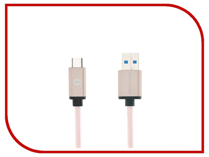 Аксессуар BROSCO USB - Type-C Rose Gold CABLE-TYPE-C-3.0-ROSEGOLD usb c charge cable