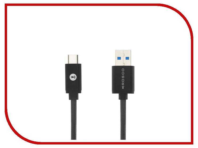 Аксессуар BROSCO USB - Type-C Black CABLE-TYPE-C-3.0-BLACK usb c charge cable