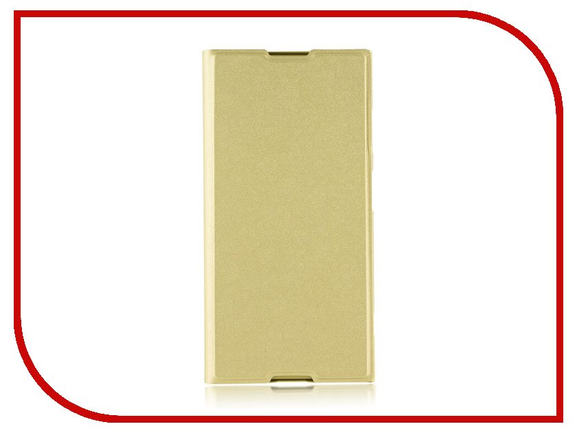 Аксессуар Чехол для Sony Xperia XA1 Plus BROSCO PU Gold XA1P-BOOK-GOLD аксессуар защитное стекло для sony xperia xa1 plus brosco full screen gold xa1p glass gold