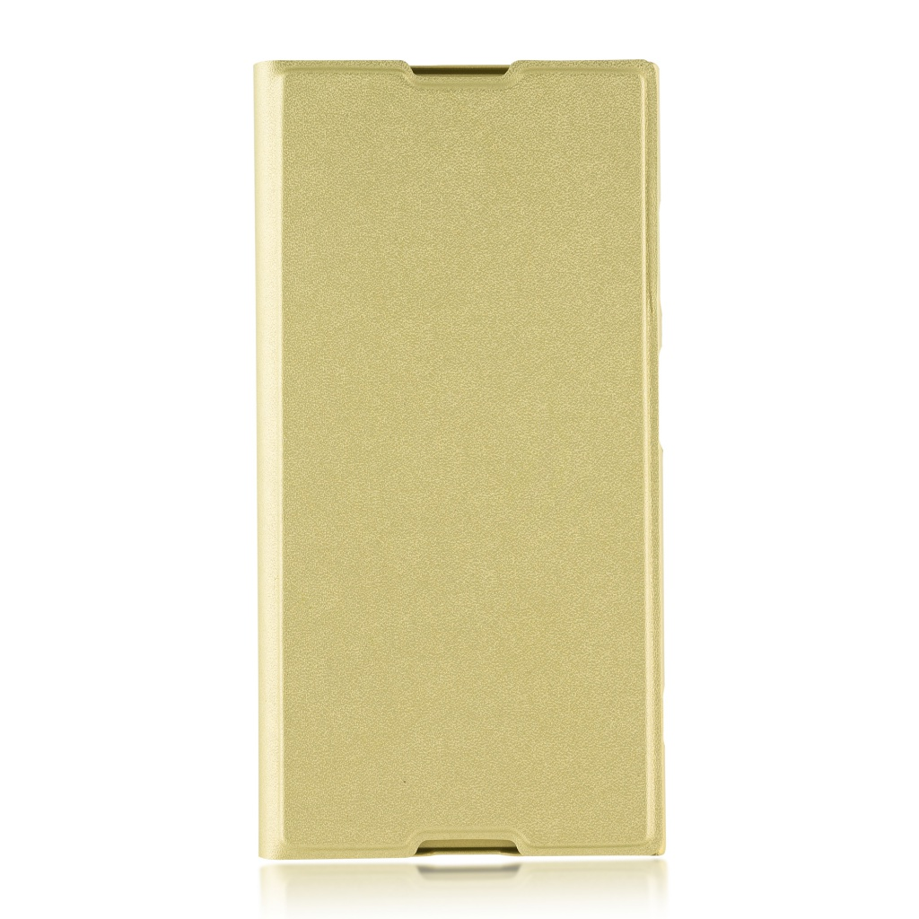 Аксессуар Чехол Brosco для Sony Xperia XA1 Plus PU Gold XA1P-BOOK-GOLD аксессуар защитное стекло для sony xperia xa1 plus brosco full screen black xa1p glass black