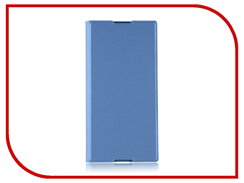 Аксессуар Чехол для Sony Xperia XA1 Plus BROSCO PU Blue XA1P-BOOK-BLUE аксессуар защитное стекло для sony xperia xa1 plus brosco full screen gold xa1p glass gold