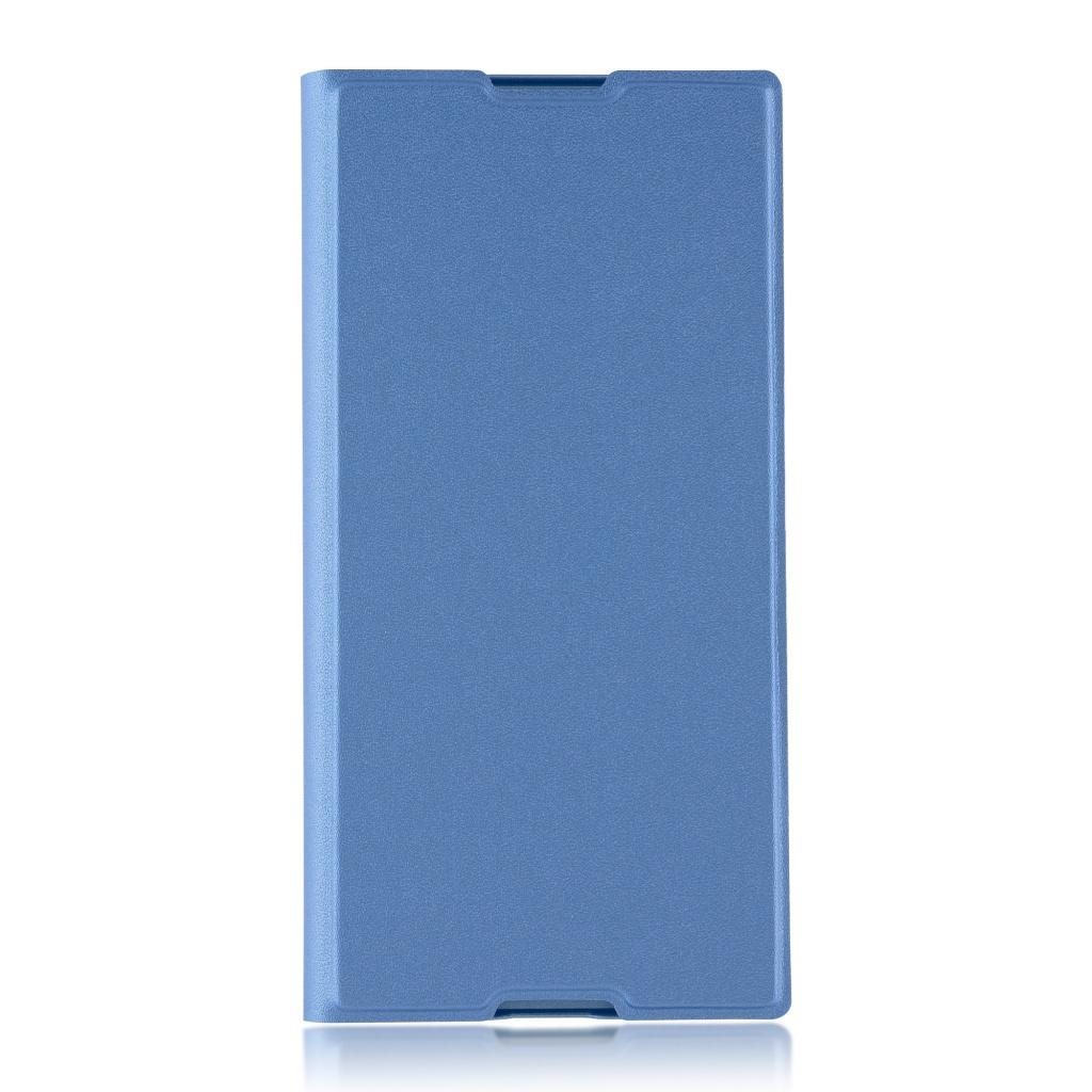 Аксессуар Чехол Brosco для Sony Xperia XA1 Plus PU Blue XA1P-BOOK-BLUE аксессуар защитное стекло для sony xperia xa1 plus brosco full screen black xa1p glass black